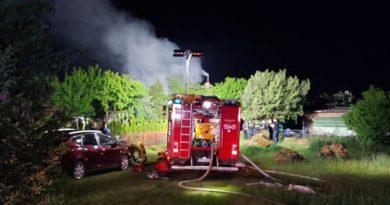 W Pile spłonęła altana działkowa. Zginęły dwie osoby